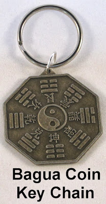 Feng Shui Key Chain, Bagua Coin Key Chain