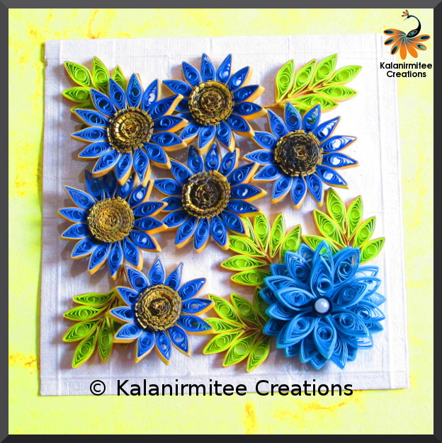 kalanirmitee: paper quilling- quilling ideas- quilled project- quilled lowers- quilled leaves