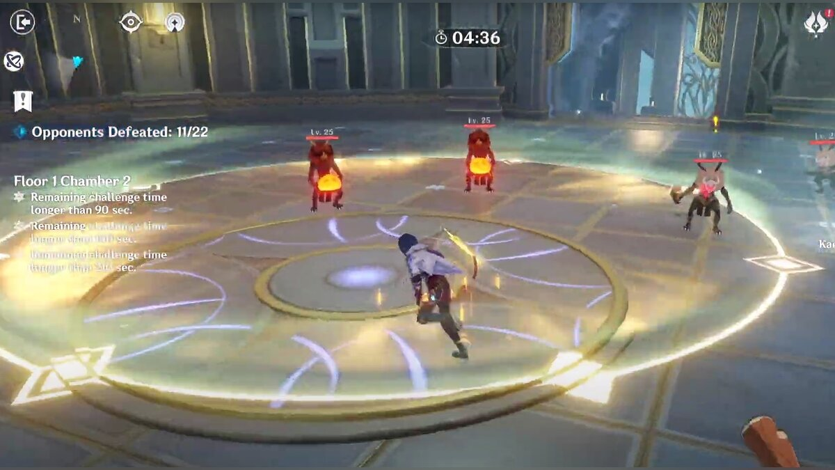 Level 1 (Floor) of the Twisted Abyss in Genshin Impact