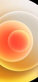 خلفية ايفون 12 برتقالية
