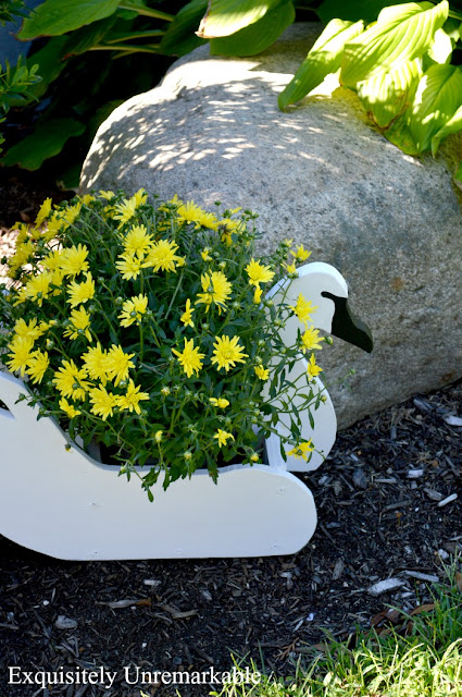 DIY Wooden Swan Planter