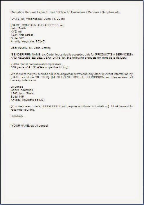 Bid Invitation Letter Format