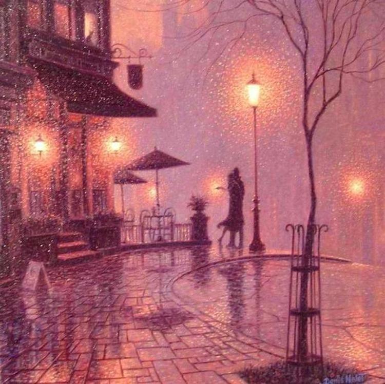 картинки с фонарями вечером рисунки демонстрировались