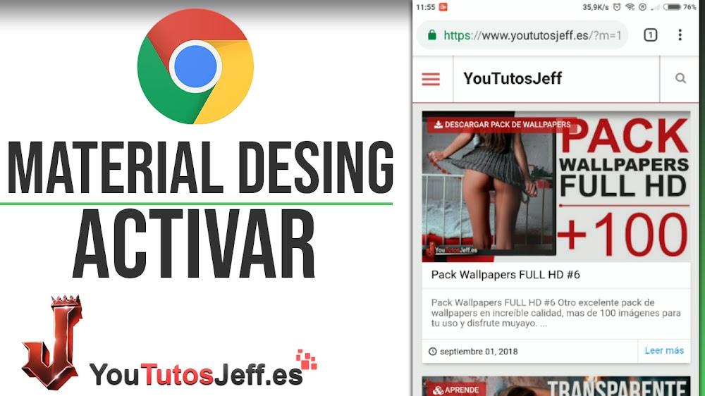 Activar Diseño Material Desing Chrome en Android - Trucos Chrome