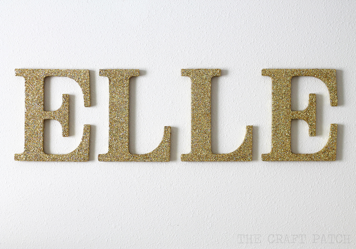 How to add glitter to wood letters