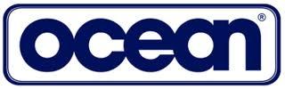 Logo de Ocean, muestra las letras en azul dentro de un cuadro con bordes redondeados