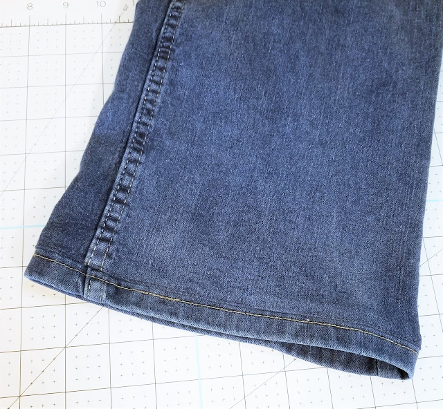 how to hem jeans with a sewing machine