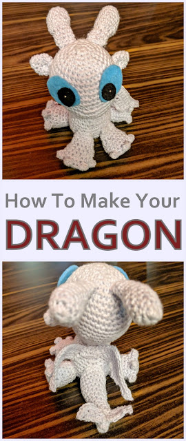 Make your crochet dragon with the cutest toes ever!