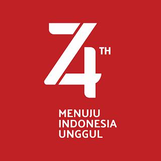 Logo Resmi Hut RI 74 - Tahun 2019 RESMI INVERT