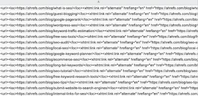Unduh sitemap XML