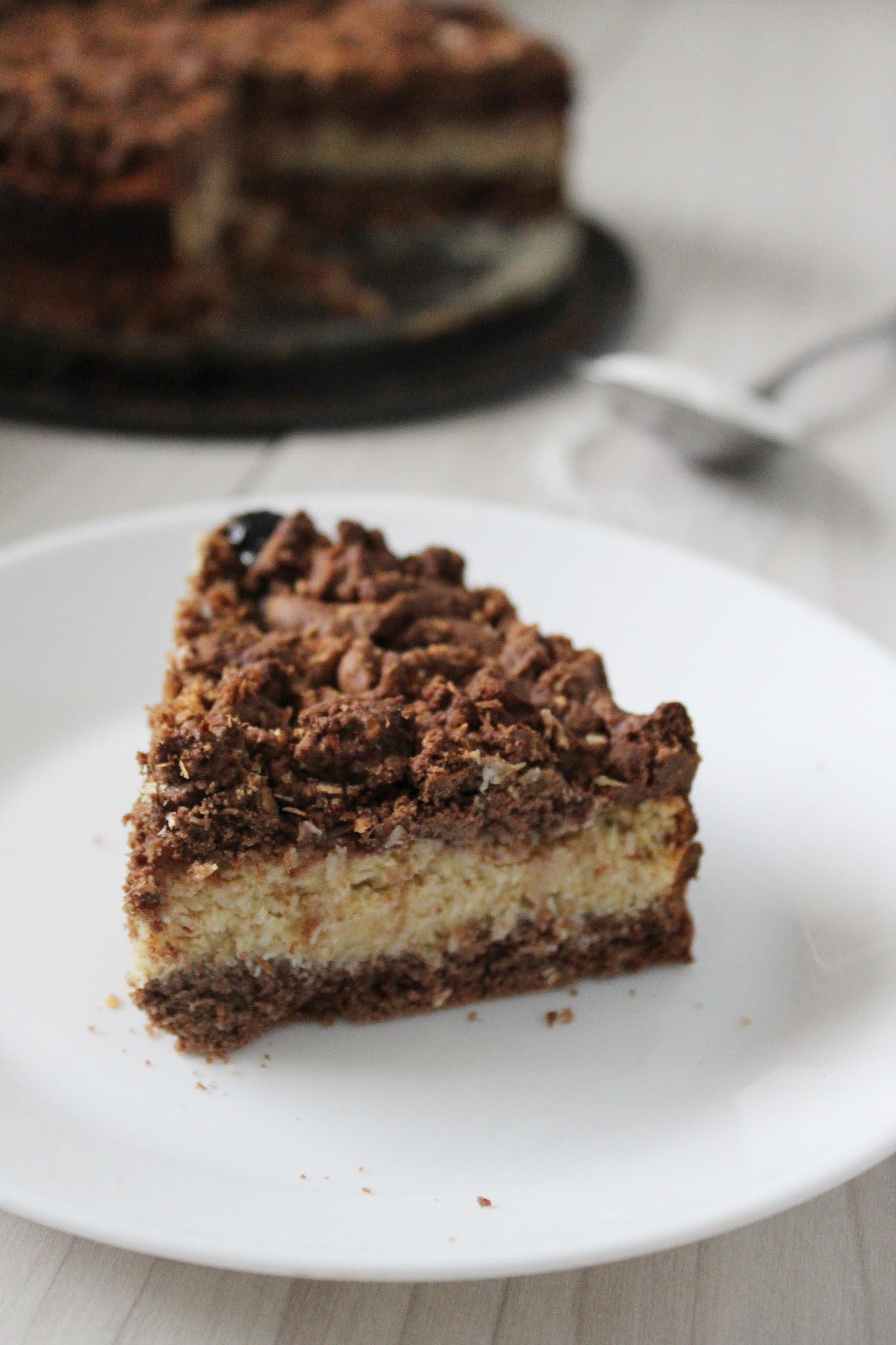 Ciasto czekoladowe z kremem kokosowym