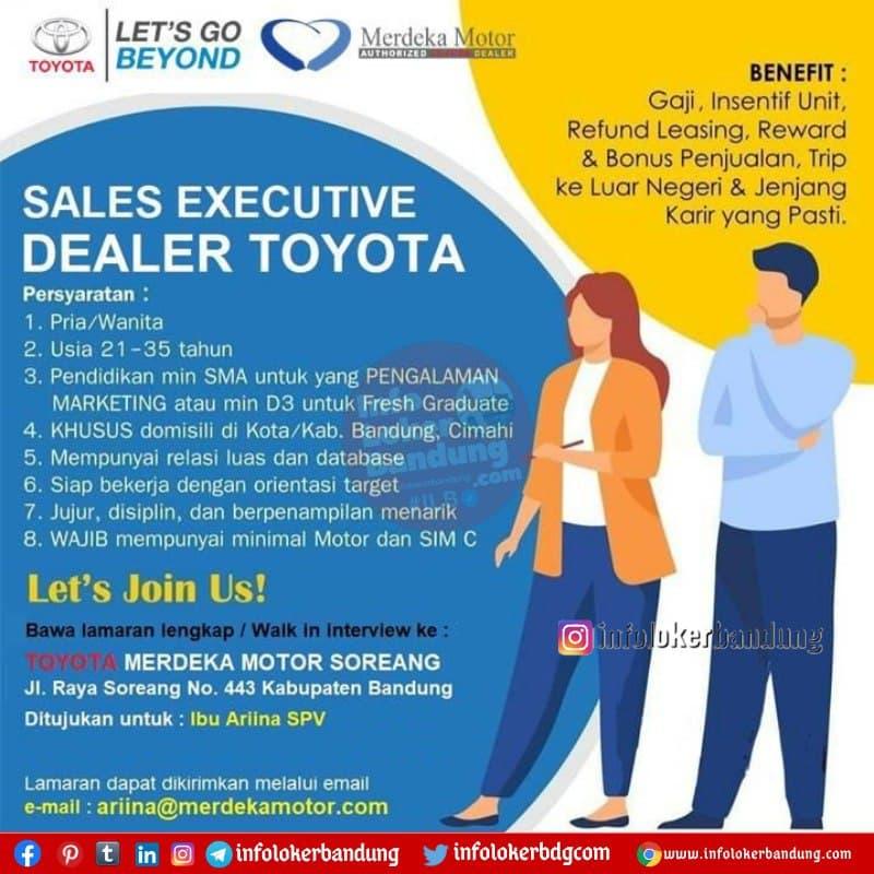 Lowongan Kerja Toyota Merdeka Motor Soreang Bandung Februari 2021