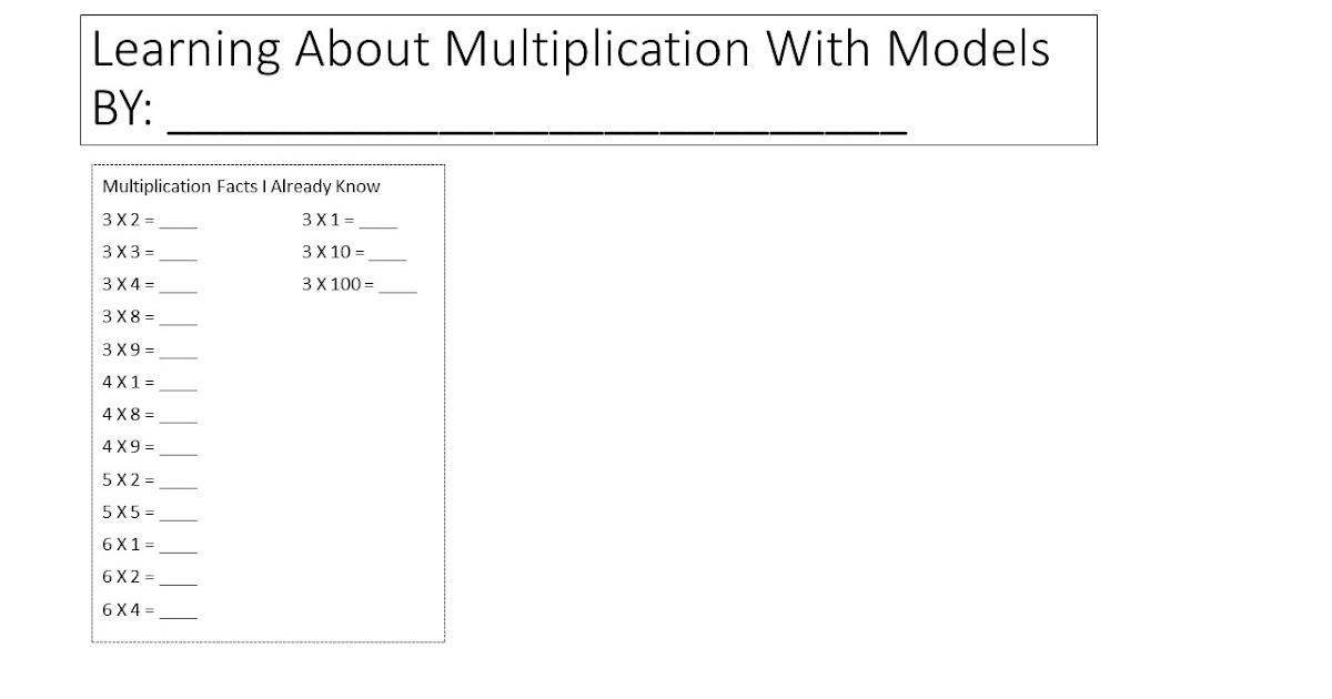Multi Grade Matters Ideas For A Split Class Multiplication Models