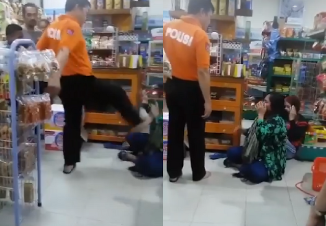 Ditendang-tendang dan Dimaki-maki! Viral Ibu-ibu Kepergok Mencuri di Minimarket