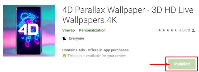 aplikasi 4d parallex wallpaper
