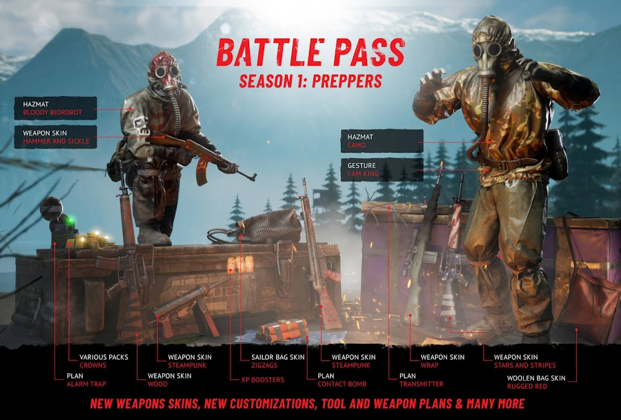 vigor update 1.2 preppers battle pass outlanders december 2019 season 1 battle pass outlanders xbox one bohemia interactive