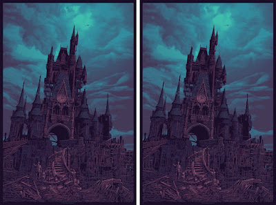 "San Diego Comic-Con 2020 Exclusive ""To All That Come To This Happy Place…"" Haunted Mansion Variant Screen Print by Daniel Danger"