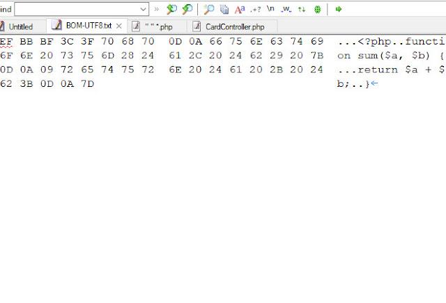 Search ký tự BOM utf8 bằng EmEditor
