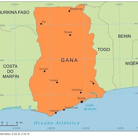 Países do Continente Africano: Gana