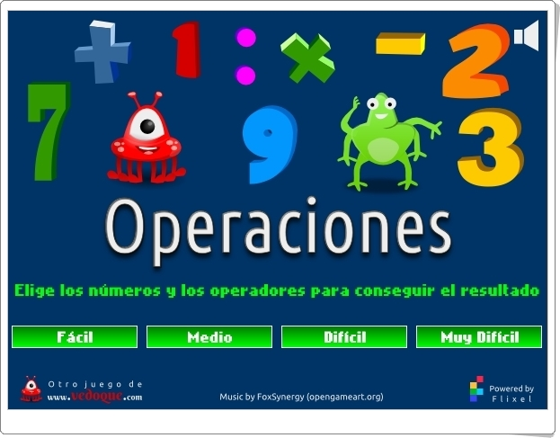 """""""Operaciones"""" (Juego de cálculo mental)"""