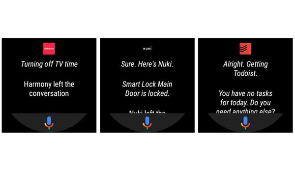 المساعد الصوتي الخاص بجوجل على الساعات الذكية بنظام وير أو أس