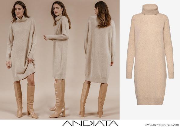 Princess Sofia wore Andiata Aislayne knitted dress