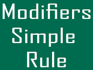 Modifiers Easy Rules