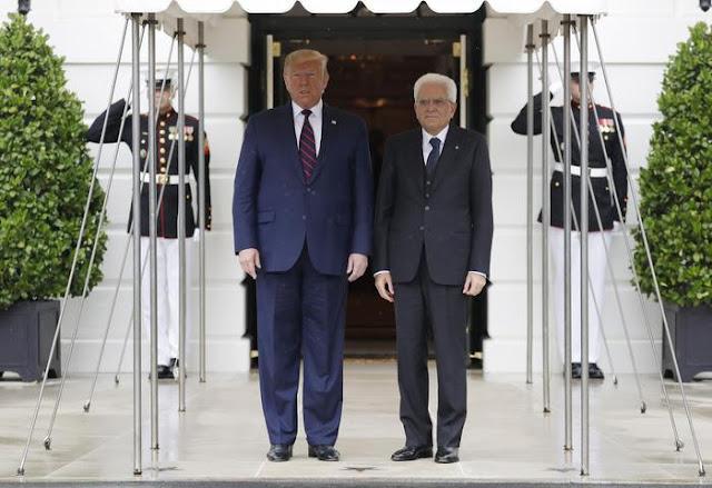 رئيس الجمهورية الإيطالية، ماتاريلا، في زيارة للولايات المتحدة من أجل اقتصاد إيطاليا