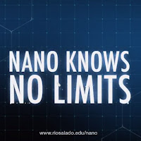 Poster for Nano.  Text: Nano Knows No Limits