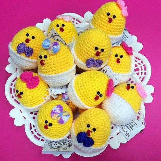 Polli all'uncinetto Souvenir di Pasqua