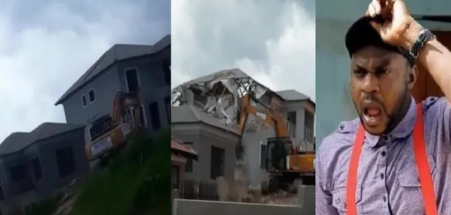 Ghen Ghen! Man demolishes house he built for his ex-girlfriend after she ended their relationship (Video)