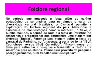 carnaval Folclore regional