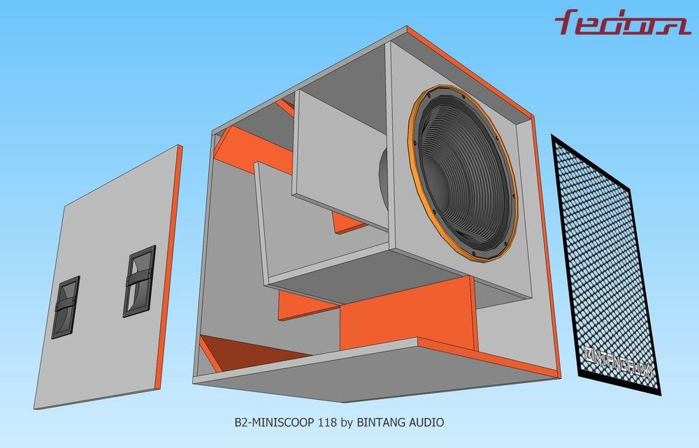 Skema box dari samping B2 Mini Scoop 18 Inch