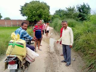 #JaunpurLive : कोपा राजभर बस्ती से बिसौरी,मढ़ी मार्ग ठीक ना होने से बिसौरी के ग्रामवासी हैं परेशान