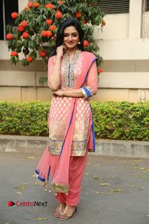 Actress Vimala Raman Stills in Beautiful Pink Salwar Kameez at (ONV) Om Namo Venkatesaya Press Meet  0272.JPG