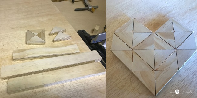 making a 1x2 small wooden heart