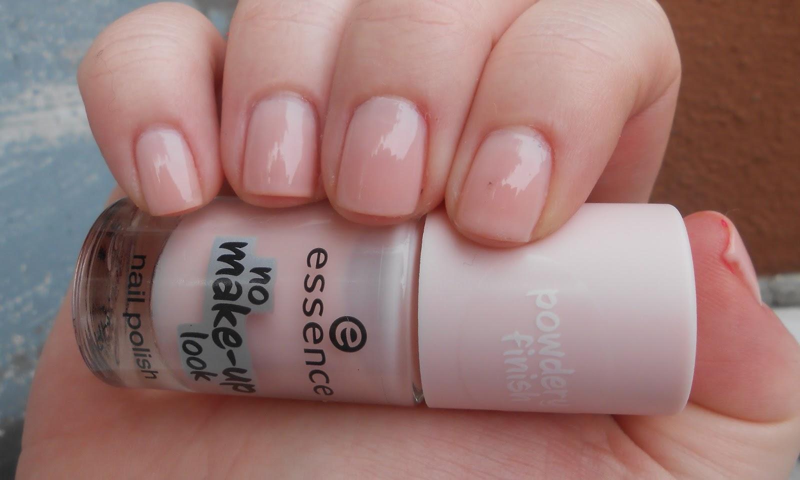 hautnah beauty nails essence no make up look nail polish in 01 powdery rose. Black Bedroom Furniture Sets. Home Design Ideas