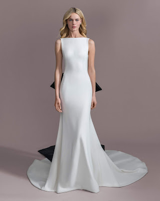 K'Mich Weddings - wedding planning - wedding dresses - boat neckline open back stretch crepe - allison webb