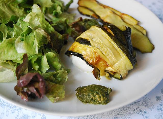 Involtini courgettes - mozzarella