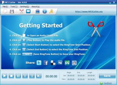 تحميل برنامج تقطيع الصوت للكمبيوتر MP3 Cutter مجانا