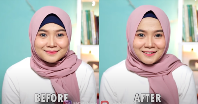 Tutorial Cara Memakai Hijab / Jilbab Untuk Yang berwajah Bulat