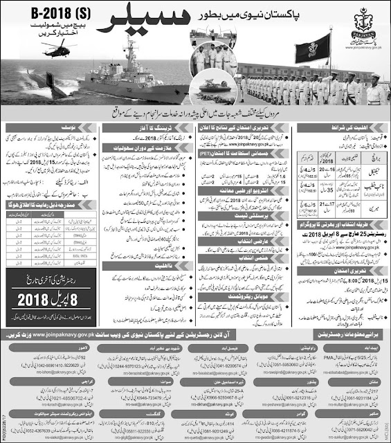 Armed Forces Jobs 2018, Matric Jobs 2018, Jobs in Army, Jobs in Karachi, Marine Jobs 2018