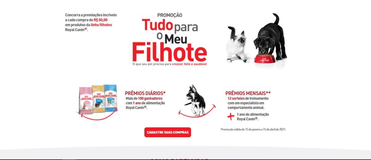 Participar Promoção Royal Canin 2021 Um Ano Produtos Grátis Tudo Para Meu Filhote - Cadastrar e Prêmios