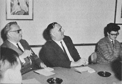 K. Schellenber, Robert Meyer y Lothar Schmid en el Torneo Internacional de Ajedrez Zúrich 1961