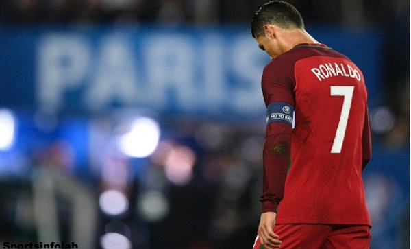 Ronaldo larboard out of Portugal band again