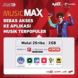 Cara Merubah Kuota MusicMax Telkomsel Menjadi Paket Reguler