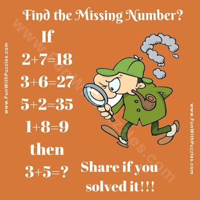 Test your brain with this logical Math Equation Picture Puzzle