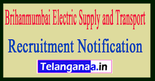 Brihanmumbai Electric Supply and Transport BEST Recruitment Notification 2017