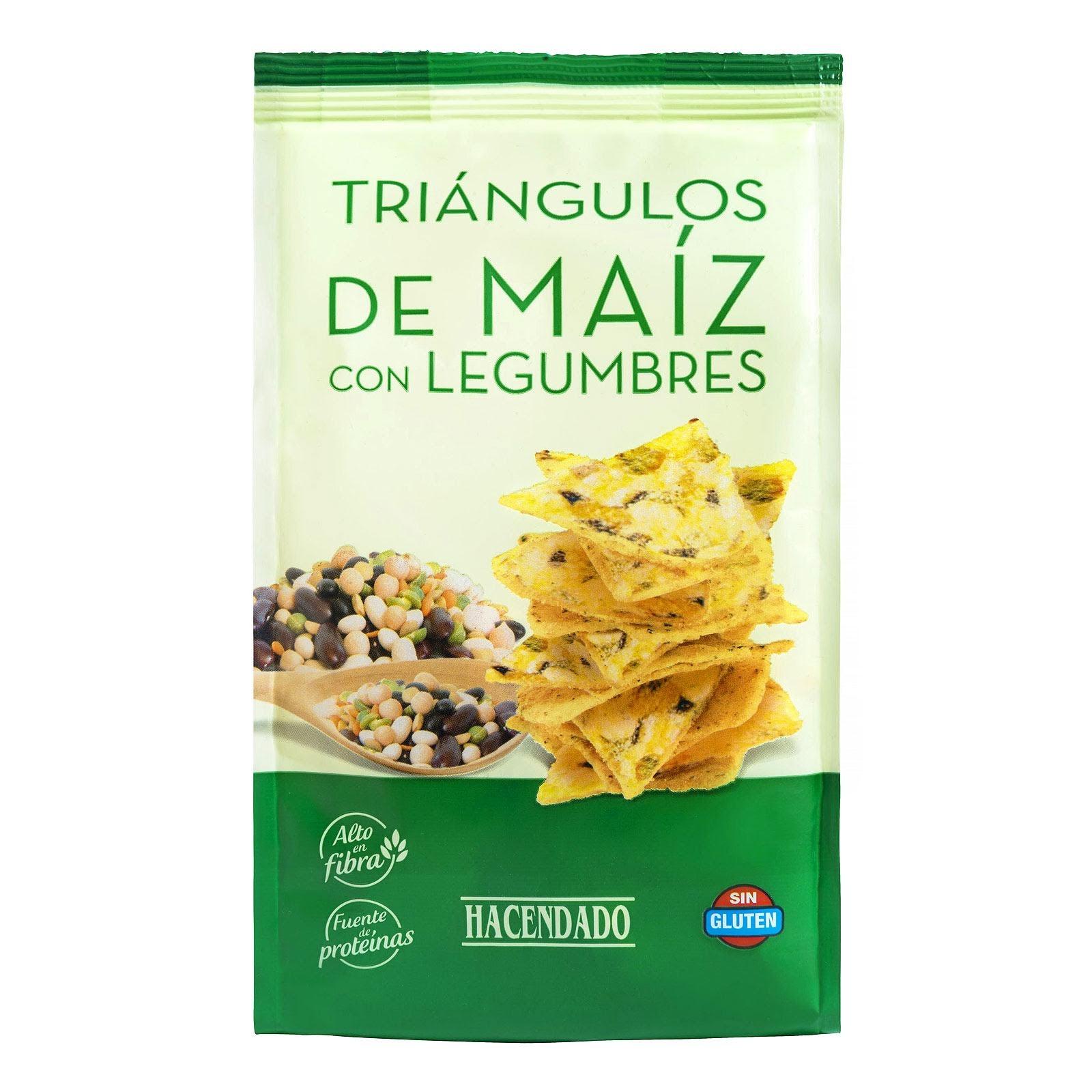 Triángulos de maíz con legumbres Hacendado