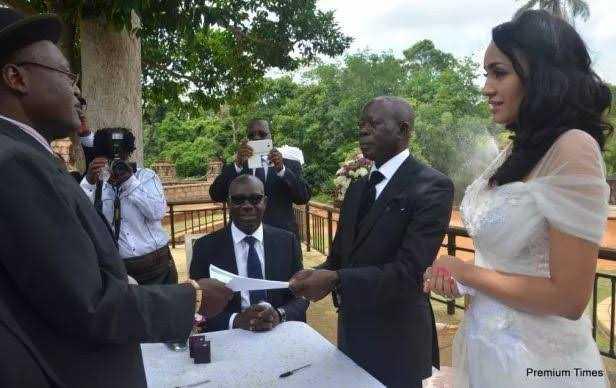 Obaseki Was Oshiomhole's Best Man At His Wedding To Iara (Throwback Photos)